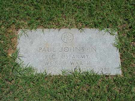 JOHNSON (VETERAN WWII), PAUL - Pulaski County, Arkansas | PAUL JOHNSON (VETERAN WWII) - Arkansas Gravestone Photos