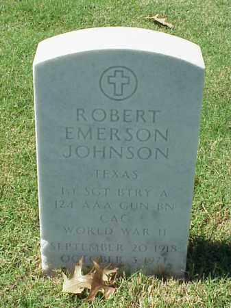 JOHNSON (VETERAN WWII), ROBERT EMERSON - Pulaski County, Arkansas | ROBERT EMERSON JOHNSON (VETERAN WWII) - Arkansas Gravestone Photos