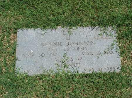 JOHNSON (VETERAN WWII), RENNIE - Pulaski County, Arkansas | RENNIE JOHNSON (VETERAN WWII) - Arkansas Gravestone Photos