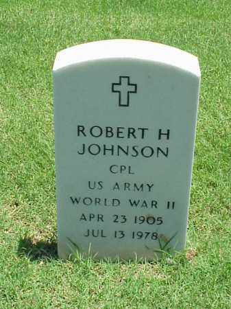JOHNSON (VETERAN WWII), ROBERT H - Pulaski County, Arkansas | ROBERT H JOHNSON (VETERAN WWII) - Arkansas Gravestone Photos