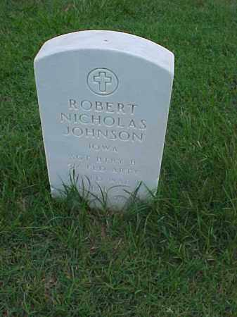 JOHNSON (VETERAN WWII), ROBERT NICHOLAS - Pulaski County, Arkansas | ROBERT NICHOLAS JOHNSON (VETERAN WWII) - Arkansas Gravestone Photos