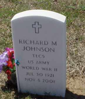JOHNSON (VETERAN WWII), RICHARD M - Pulaski County, Arkansas | RICHARD M JOHNSON (VETERAN WWII) - Arkansas Gravestone Photos