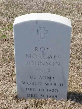 JOHNSON (VETERAN WWII), ROY MORGAN - Pulaski County, Arkansas | ROY MORGAN JOHNSON (VETERAN WWII) - Arkansas Gravestone Photos