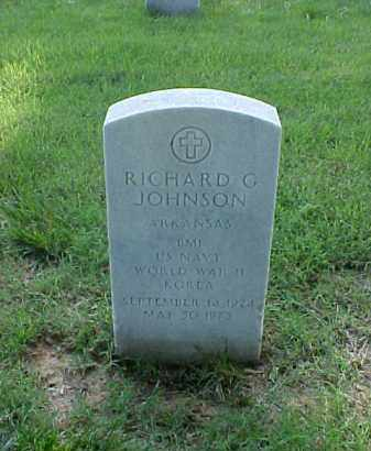 JOHNSON (VETERAN WWII), RICHARD G - Pulaski County, Arkansas | RICHARD G JOHNSON (VETERAN WWII) - Arkansas Gravestone Photos