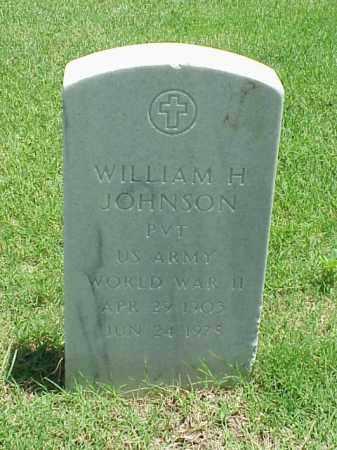 JOHNSON (VETERAN WWII), WILLIAM H - Pulaski County, Arkansas | WILLIAM H JOHNSON (VETERAN WWII) - Arkansas Gravestone Photos