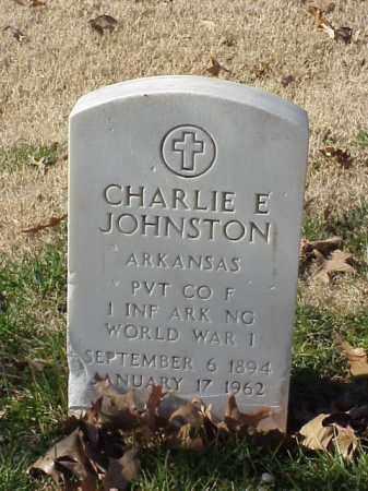 JOHNSTON (VETERAN WWI), CHARLIE E - Pulaski County, Arkansas | CHARLIE E JOHNSTON (VETERAN WWI) - Arkansas Gravestone Photos