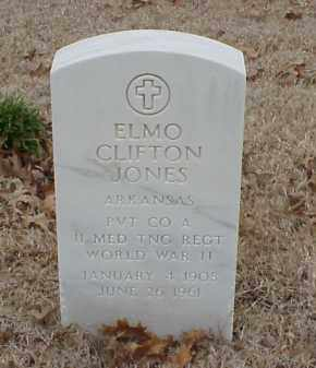 JONES  (VETERAN WWII), ELMO CLIFTON - Pulaski County, Arkansas | ELMO CLIFTON JONES  (VETERAN WWII) - Arkansas Gravestone Photos