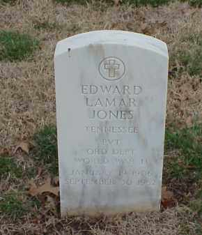 JONES  (VETERAN WWII), EDWARD LAMAR - Pulaski County, Arkansas | EDWARD LAMAR JONES  (VETERAN WWII) - Arkansas Gravestone Photos