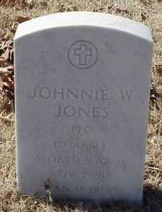 JONES  (VETERAN WWII), JOHNNIE W. - Pulaski County, Arkansas | JOHNNIE W. JONES  (VETERAN WWII) - Arkansas Gravestone Photos