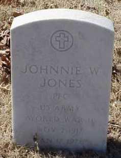 JONES  (VETERAN WWII), JOHNNIE W. - Pulaski County, Arkansas | JOHNNIE W. JONES  (VETERAN WWII) - Arkansas Gravestone Photos