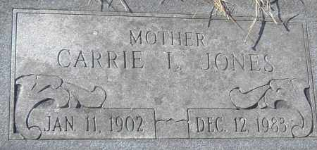 JONES, CARRIE L - Pulaski County, Arkansas | CARRIE L JONES - Arkansas Gravestone Photos