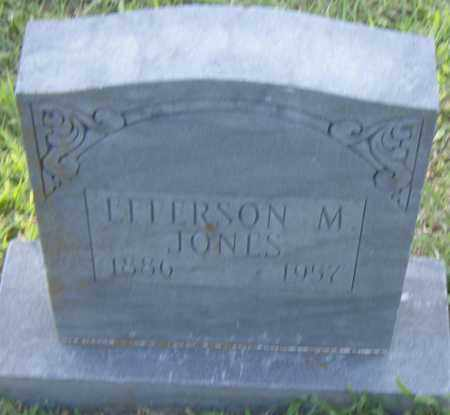 JONES, EFFERSON  M. - Pulaski County, Arkansas   EFFERSON  M. JONES - Arkansas Gravestone Photos