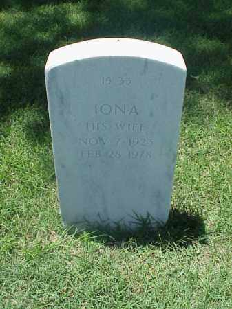JONES, IONA - Pulaski County, Arkansas | IONA JONES - Arkansas Gravestone Photos
