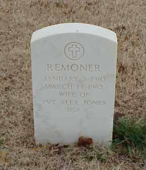 JONES, REMONER - Pulaski County, Arkansas | REMONER JONES - Arkansas Gravestone Photos