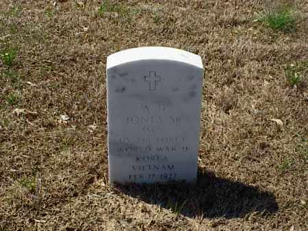 JONES, SR (VETERAN 3 WARS), W D - Pulaski County, Arkansas | W D JONES, SR (VETERAN 3 WARS) - Arkansas Gravestone Photos