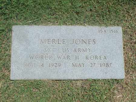 JONES (VETERAN 2 WARS), MERLE - Pulaski County, Arkansas | MERLE JONES (VETERAN 2 WARS) - Arkansas Gravestone Photos