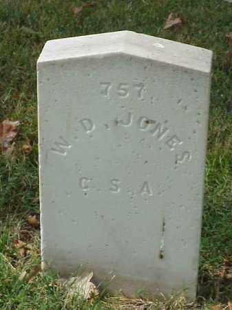 JONES (VETERAN CSA), W D - Pulaski County, Arkansas | W D JONES (VETERAN CSA) - Arkansas Gravestone Photos