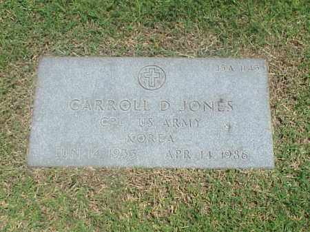 JONES (VETERAN KOR), CARROLL D - Pulaski County, Arkansas | CARROLL D JONES (VETERAN KOR) - Arkansas Gravestone Photos