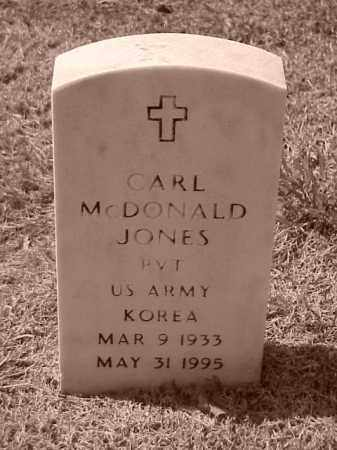 JONES (VETERAN KOR), CARL MCDONALD - Pulaski County, Arkansas | CARL MCDONALD JONES (VETERAN KOR) - Arkansas Gravestone Photos