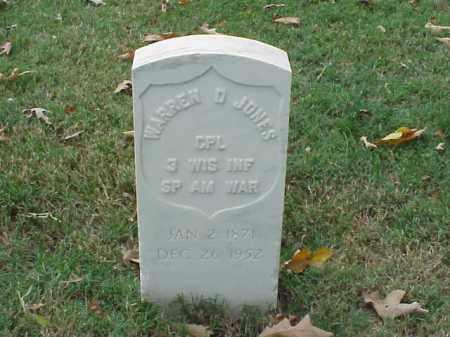 JONES (VETERAN SAW), WARREN D - Pulaski County, Arkansas | WARREN D JONES (VETERAN SAW) - Arkansas Gravestone Photos