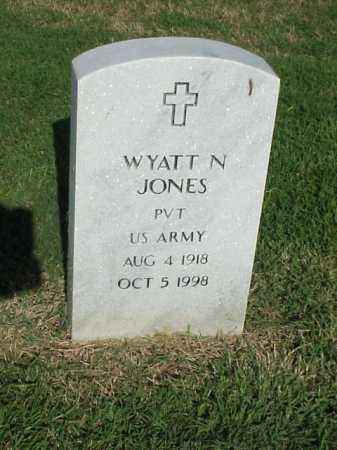 JONES (VETERAN), WYATT N - Pulaski County, Arkansas | WYATT N JONES (VETERAN) - Arkansas Gravestone Photos