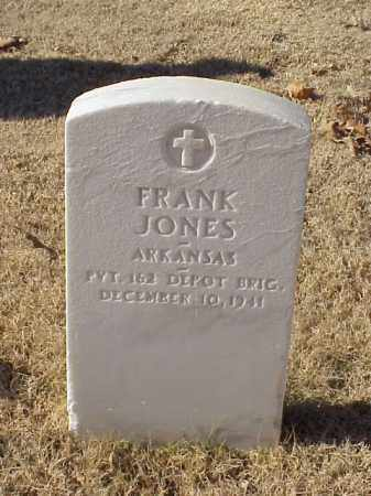 JONES (VETERAN WWI), FRANK - Pulaski County, Arkansas | FRANK JONES (VETERAN WWI) - Arkansas Gravestone Photos