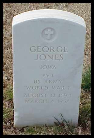 JONES (VETERAN WWI), GEORGE - Pulaski County, Arkansas | GEORGE JONES (VETERAN WWI) - Arkansas Gravestone Photos