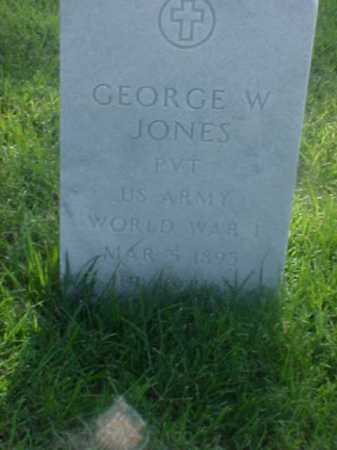 JONES (VETERAN WWI), GEORGE W - Pulaski County, Arkansas | GEORGE W JONES (VETERAN WWI) - Arkansas Gravestone Photos