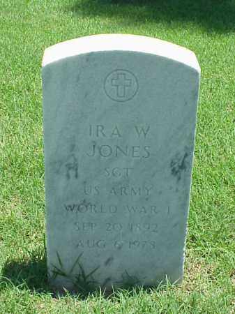 JONES (VETERAN WWI), IRA W - Pulaski County, Arkansas | IRA W JONES (VETERAN WWI) - Arkansas Gravestone Photos