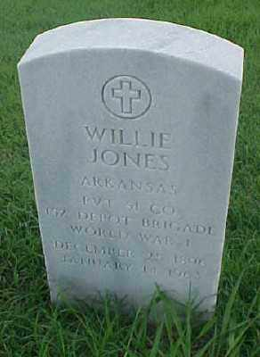 JONES (VETERAN WWI), WILLIE - Pulaski County, Arkansas | WILLIE JONES (VETERAN WWI) - Arkansas Gravestone Photos