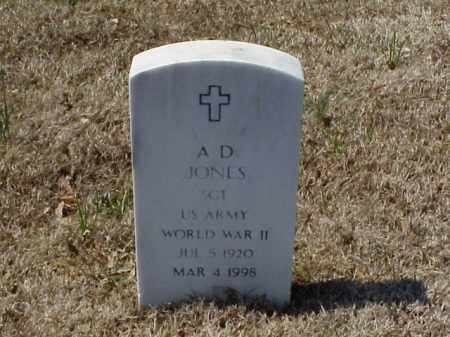 JONES (VETERAN WWII), A D - Pulaski County, Arkansas   A D JONES (VETERAN WWII) - Arkansas Gravestone Photos