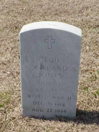 JONES (VETERAN WWII), CECIL WILLARD - Pulaski County, Arkansas | CECIL WILLARD JONES (VETERAN WWII) - Arkansas Gravestone Photos