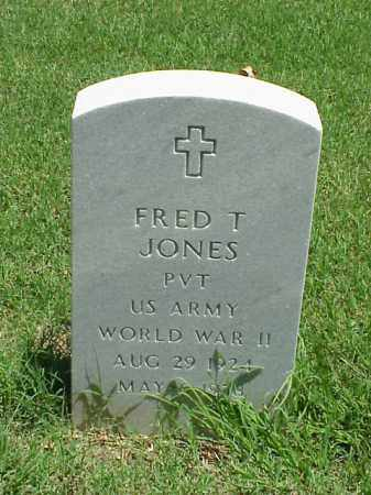 JONES (VETERAN WWII), FRED T - Pulaski County, Arkansas | FRED T JONES (VETERAN WWII) - Arkansas Gravestone Photos