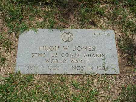 JONES (VETERAN WWII), HUGH W - Pulaski County, Arkansas | HUGH W JONES (VETERAN WWII) - Arkansas Gravestone Photos