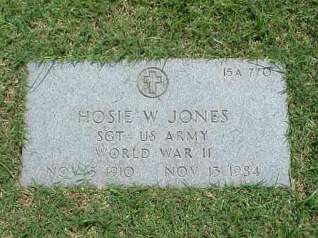 JONES (VETERAN WWII), HOSIE W - Pulaski County, Arkansas | HOSIE W JONES (VETERAN WWII) - Arkansas Gravestone Photos