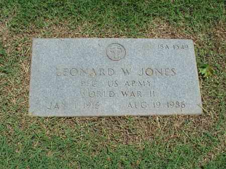 JONES (VETERAN WWII), LEONARD W - Pulaski County, Arkansas | LEONARD W JONES (VETERAN WWII) - Arkansas Gravestone Photos