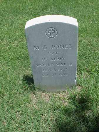 JONES (VETERAN WWII), M G - Pulaski County, Arkansas | M G JONES (VETERAN WWII) - Arkansas Gravestone Photos