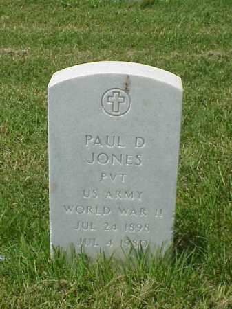 JONES (VETERAN WWII), PAUL D - Pulaski County, Arkansas | PAUL D JONES (VETERAN WWII) - Arkansas Gravestone Photos