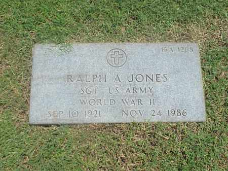 JONES (VETERAN WWII), RALPH A - Pulaski County, Arkansas | RALPH A JONES (VETERAN WWII) - Arkansas Gravestone Photos