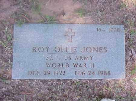 JONES (VETERAN WWII), ROY OLLIE - Pulaski County, Arkansas | ROY OLLIE JONES (VETERAN WWII) - Arkansas Gravestone Photos