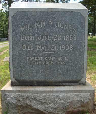 JONES, WILLIAM P. - Pulaski County, Arkansas   WILLIAM P. JONES - Arkansas Gravestone Photos