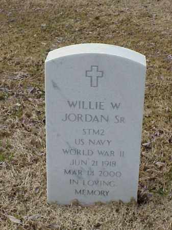 JORDAN , SR  (VETERAN WWII), WILLIE W - Pulaski County, Arkansas | WILLIE W JORDAN , SR  (VETERAN WWII) - Arkansas Gravestone Photos