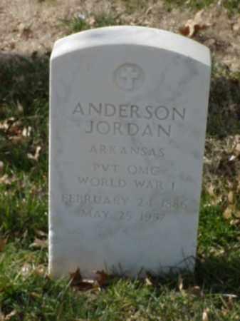 JORDAN  (VETERAN WWI), ANDERSON - Pulaski County, Arkansas | ANDERSON JORDAN  (VETERAN WWI) - Arkansas Gravestone Photos