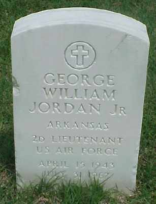 JORDAN, JR (VETERAN), GEORGE WILLIAM - Pulaski County, Arkansas | GEORGE WILLIAM JORDAN, JR (VETERAN) - Arkansas Gravestone Photos