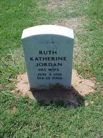 JORDAN, RUTH KATHERINE - Pulaski County, Arkansas | RUTH KATHERINE JORDAN - Arkansas Gravestone Photos