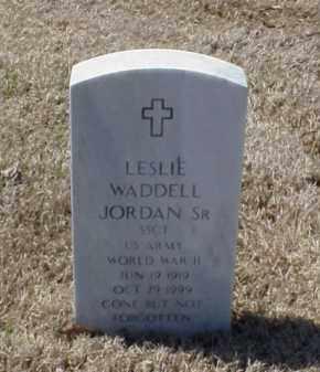 JORDAN, SR (VETERAN WWII), LESLIE WADDELL - Pulaski County, Arkansas | LESLIE WADDELL JORDAN, SR (VETERAN WWII) - Arkansas Gravestone Photos