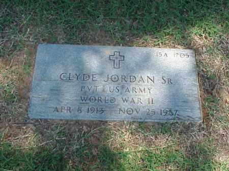 JORDAN, SR (VETERAN WWII), CLYDE - Pulaski County, Arkansas | CLYDE JORDAN, SR (VETERAN WWII) - Arkansas Gravestone Photos
