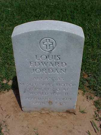 JORDAN (VETERAN 2 WARS), LOUIS EDWARD - Pulaski County, Arkansas | LOUIS EDWARD JORDAN (VETERAN 2 WARS) - Arkansas Gravestone Photos