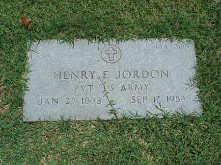 JORDAN (VETERAN), HENRY E - Pulaski County, Arkansas | HENRY E JORDAN (VETERAN) - Arkansas Gravestone Photos