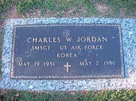 JORDAN (VETERAN KOR), CHARLES W - Pulaski County, Arkansas | CHARLES W JORDAN (VETERAN KOR) - Arkansas Gravestone Photos